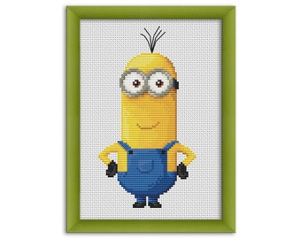 "PDF Cross Stitch Pattern ""Minion Kevin""  Instant Download"