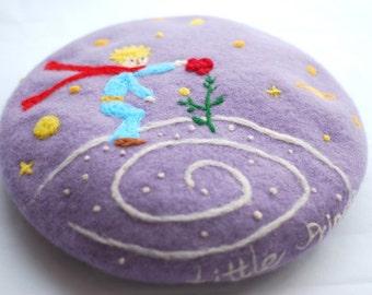 Wool beret,needle felted beret ,Needle Felted hat pattern,purple beret