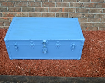 old blue trunk