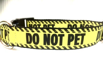 Do Not Pet Dog Collar | Do Not Pet Leash | Step In Harness | Personalized Dog Collar | Do Not Pet | Safety Dog Collar | Do Not Pet Harness