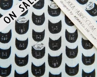 ON SALE Cute Kitten Double Gauze By Kokka Japan