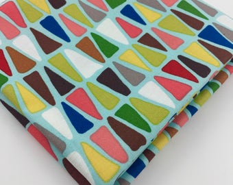 Fat Quarter Triangulo Turquoise Folklorico Collection By Alexander Henry Fabrics, Triangles, Quilting, Crafty