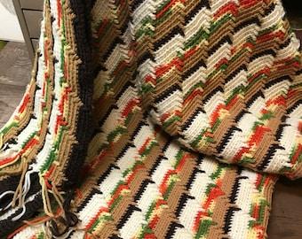 Vintage Afghan Blanket Comforter