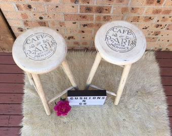 SOLD-Upcycled timber stool/plant stand/sidetable