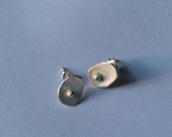 Sterling silver small earrings. Silver 925 small earrings contemporary design