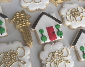 2 dozen Real estate home key cookies
