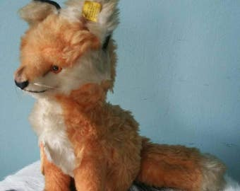 STEIFF fox cosy fuzzy! Collectible vintage plush 1965-1967