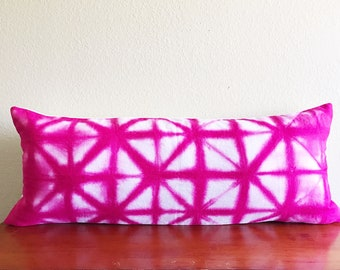 """Hot pink Lumbar Pillow 14"""" x 36"""", Lumbar Pillow cover, Boho Lumbar pillow, pink Bolster Cover, pink Boho Lumbar pillow, lumbar pillow 14x36"""