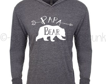 Papa Bear - Papa Bear Hoodie - Papa Bear - Bear Hoodie - Papa Bear Shirt - Gifts for Men - Woodland Hoodie - Bear Family Matching Outfit