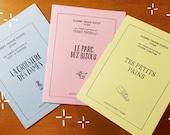 Trio de chansons illustrées - Croisière des dames, Parc des bisous et Tes petits pains