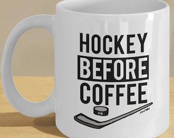 Ice hockey gifts / Ice hockey mug, funny stick/puck, Ice Hockey fan, lovers coffee cup