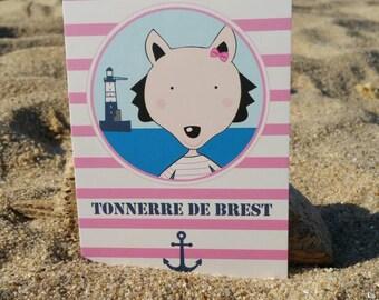 Postcard thunder of Brest