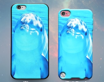 Dolphin Under Water Ocean Sea Life Dolphins Cool Rubber Case for iPhone 7 6s 6 Plus SE 5s 5 5c iPod Touch