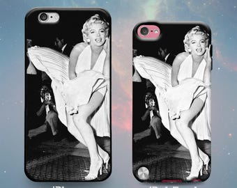 Rubber Case for iPhone 7 7 Plus iPhone 6s 6 Plus iPhone SE iPhone 5s 5 5c iPod Touch 6th 5th Gen Beautiful Hollywood Actress Marilyn Monroe