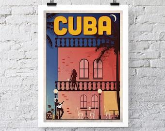 Vintage Travel Print: Cuba Wall Art