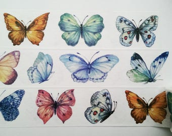 Design Washi tape colorful butterflies