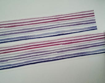Washi tape pink purple blue stripes
