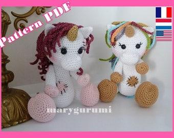 Crochet Pattern, pattern, tutorial, Amigurumi, Lili Unicorn
