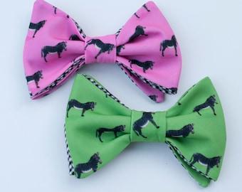 Zebra Bow Tie - pink