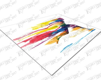 Print on Canvas Watercolor Running Man X1368