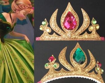 SALE!!,Anna Crown,Anna Headband,Elsa Crown,Frozen Headband,Elsa Headband,Anna Crown Elastic Headband,Anna Elastic Headband,disney Anna crown