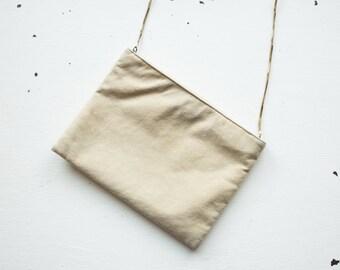 Vintage Suede Clutch / Blush Pink Evening Bag / Women's Handbag with Chain