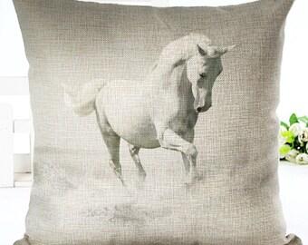 Horse Pillow, Animal Pillow, Pillow Case, Horse