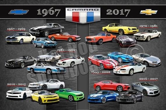 Chevrolet Camaro 50th Anniversary Poster
