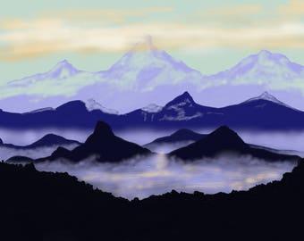 Mountains - Digital Artwork