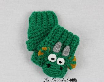 Crochet Pattern - Dragon Crochet Pattern - Fingerless Glove Pattern - Texting Glove Pattern - Crochet Glove Pattern - Instant Download