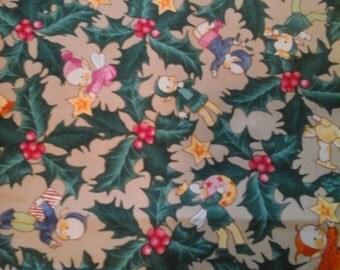 2 Yards Elf Christmas Fabric Cotton