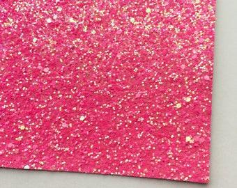 Neon Magenta Premium Glitter Fabric Sheet