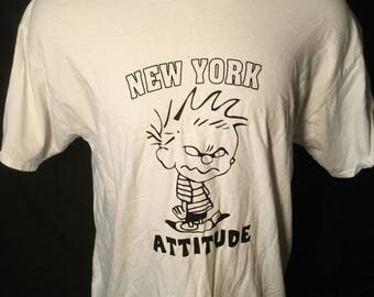 Vintage 1990's New York Calvin and Hobbes T-Shirt