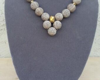 Ladies Etched Calabash 3-piece Jewelry set
