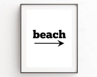 Beach Wall Art Large | Beach Print Decor | Cubicle Decor