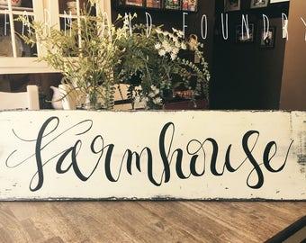 Farmhouse Sign| Milk Paint Home Decor