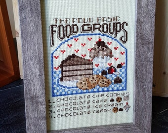 The Four Basic Food Groups -- Chocolate Cross Stitch
