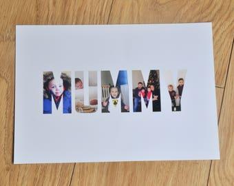 Mummy Photo, Mummy Keepsake, Photo Collage, Mum, Photo, Collage, Mum Photos, Photo Frame, Family Portrait, Personalised Keepsake, For Mum
