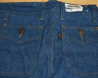 70S Levis Strauss Miss Levi's Jeans Size 34 Flare 100% Cotton