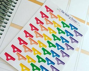 45 Mini rainbow period sex ttc trackers Planner stickers !  bujo recollections tn