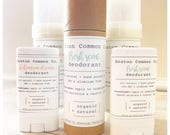 Organic all natural hand poured deodorant Non GMO Paraben free / aluminum free natural deodorant / fresh scent deodorant / organic deodorant
