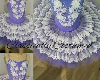 Lavender And White Stretch Tutu