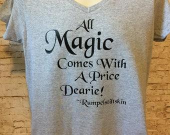 Custom OUAT Rumplestiltskin Magic Dearie inspired shirt 1 color design regular or glitter you choose shirt/design color Adult & Youth