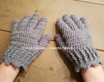 PATR1102 - Xyra Crochet-pattern - Gloves – woman - (Dutch & English-US)
