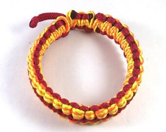 African bracelet, KenyAfrican bracelet, Kenyan bracelet, Masai bracelet, red and yellow bracelet, African jewelry, woven bracelet