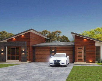196 m2 | 5 Bedrooms duplex design | 5 Bedrooms duplex plans | 5 bedroom duplex | modern duplex plans | Australian Duplex  | duplex design