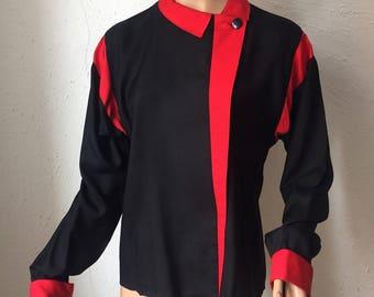 Oleg Cassini, 80s silk shirt