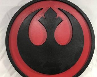 Rebel Alliance Sign - 12inch round - 3D