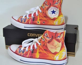 The Flash custom converse / custom shoes / sneakers