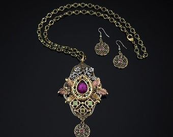 Star Of Bethlehem Necklace and Earring Set